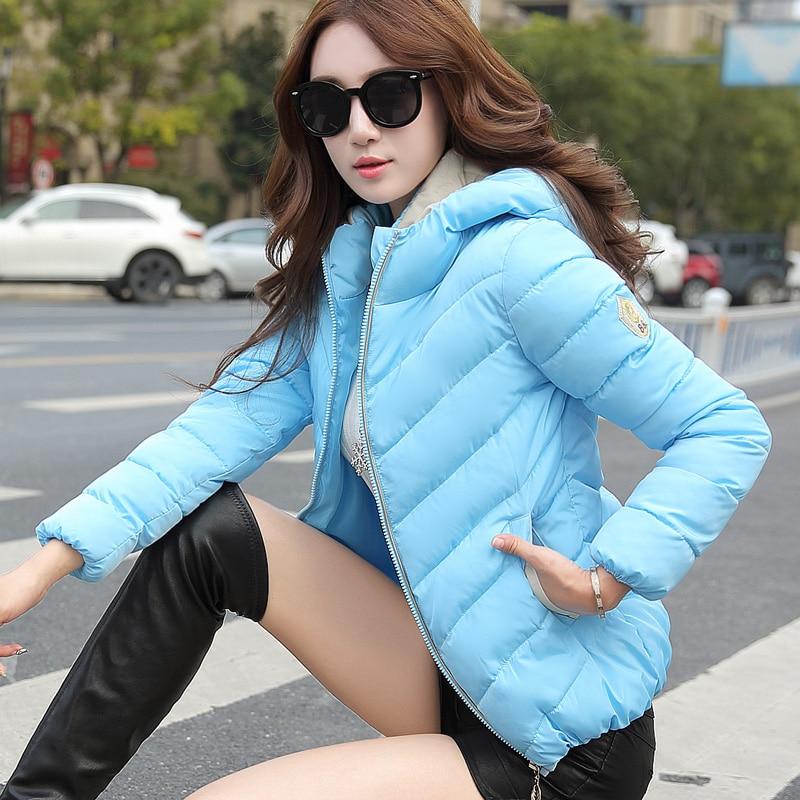 2016 kış yeni kadın kısa paragraf İnce yastıklı pamuklu ceket büyük metre