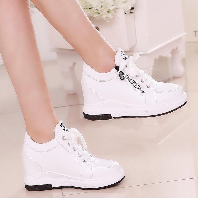 Women Slimming Platform Shoes Fashion Fwedges 6cm High Female Casual