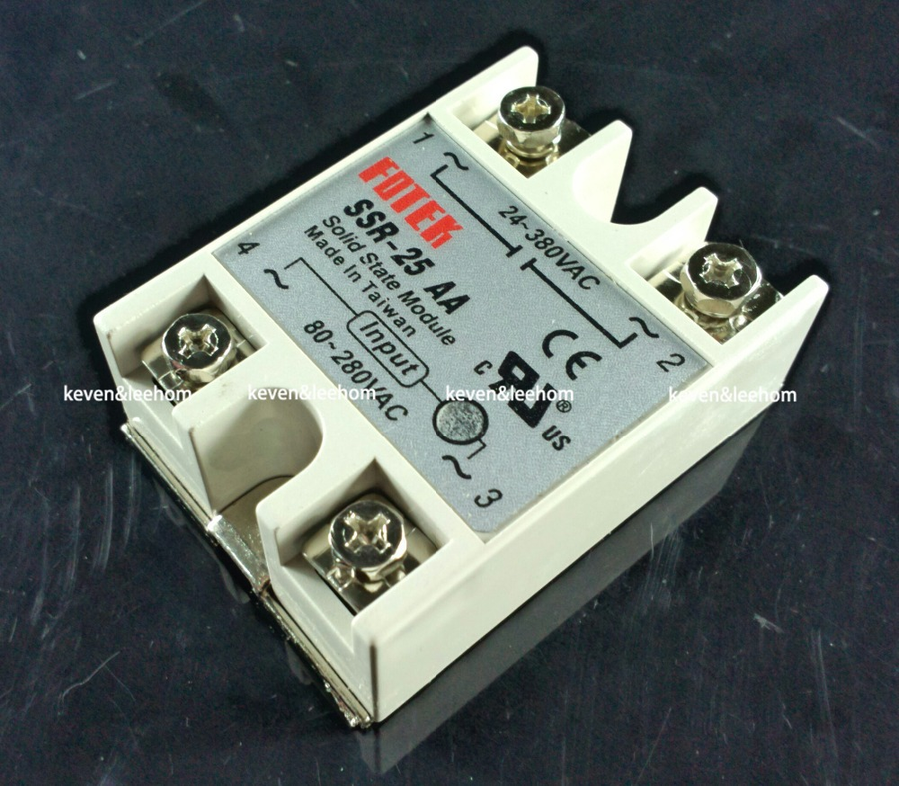 solid state relay SSR-25AA 25A actually 80-250V AC TO 24-380V AC SSR 25AA relay solid state normally open single phase solid state relay ssr mgr 1 d48120 120a control dc ac 24 480v