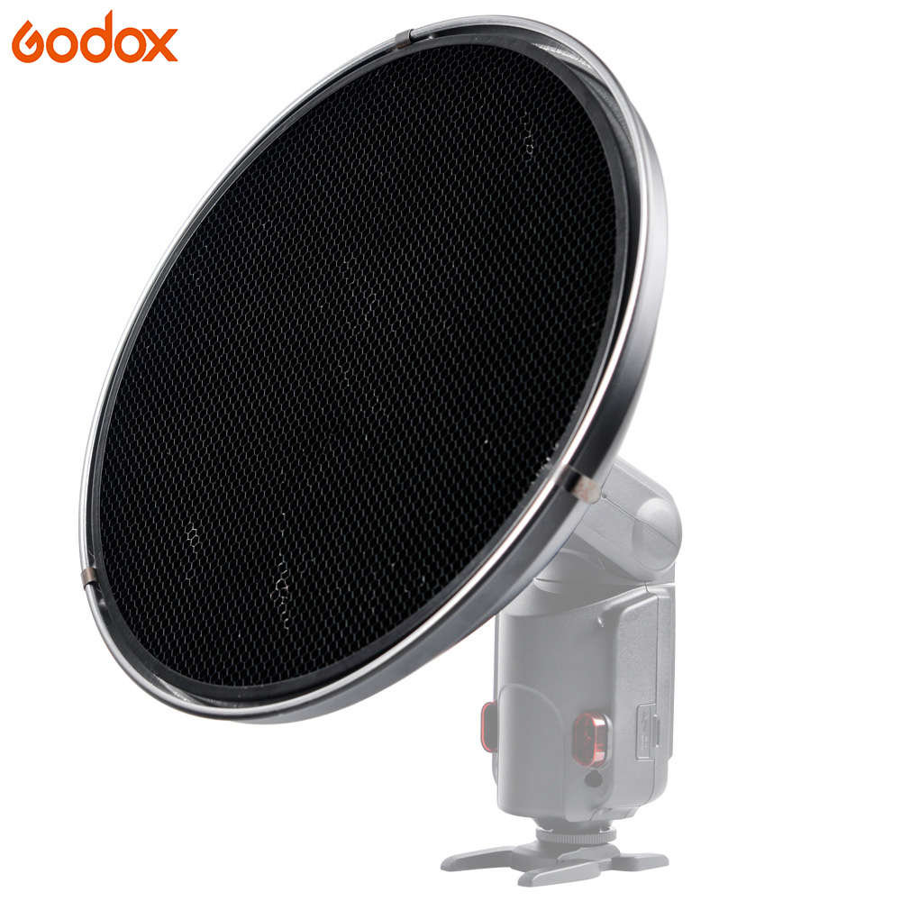 Godox AD S3 Beauty Dish with Grid AD S4 Flash Diffuser for WITSTRO Speedlite Flash AD180