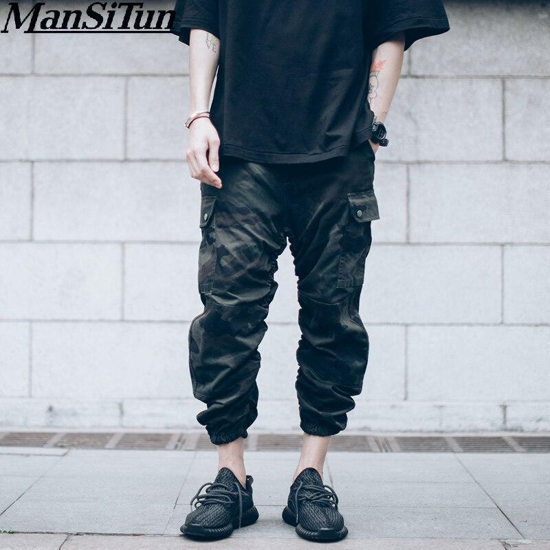 2019 Kanye West Stijl Joggers Fletsbroek Mode Mannen Broek Ontwerp Hip Hop Heren Enkel Camouflage Jumpsuit Cargo Broek Ideaal Cadeau Voor Alle Gelegenheden