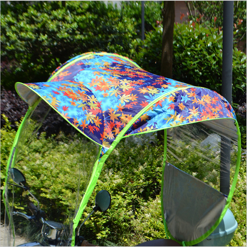 Universal Motorcycle Rain Cover Sun Shade Mobility Scooter Umbrella  Raincoat Canopy Motorbike Protective Gear Accessories New