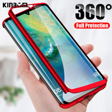 KINBOM 360 Case For Huawei P10  P30 Lite P20 Pro Shockproof Cover for P9 Plus Psmart 2019 Luxury Full