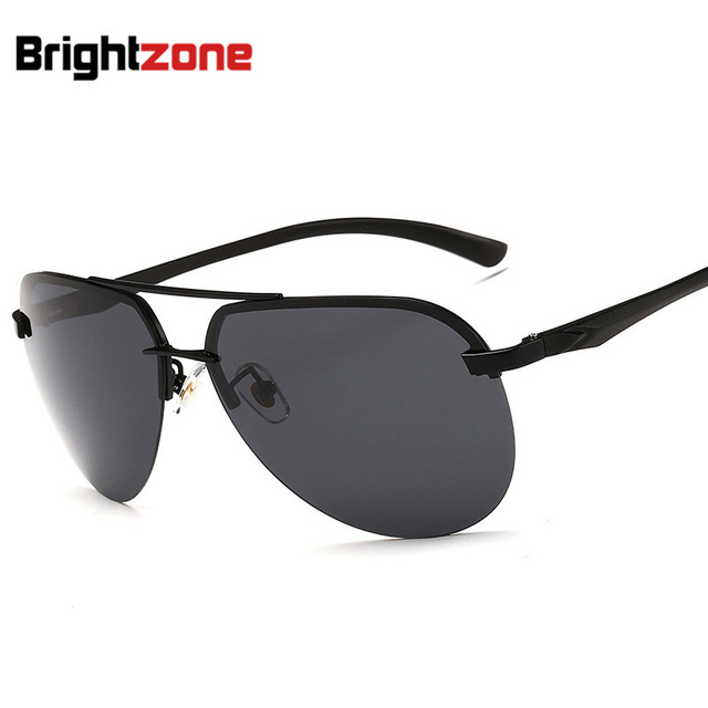 fc7e2e46f3 Polarized Sunglasses Man Half Frame Sunglasses Aluminum Magnesium  Sunglasses Glasses Color Film oculos de sol gafas