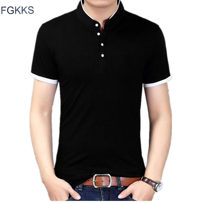 FGKKS Men's   Polos   Shirt Brand Top 2019 Summer Mens   Polo   Shirts Solid Color Tee Top Fashion Casual Slim Fit   Polos   Shirt