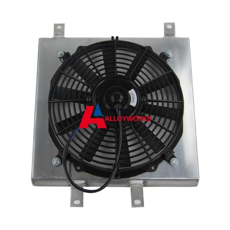 "Integra DC Del Sol All Aluminum Radiator Shroud 12/"" Fan FOR Honda Civic"