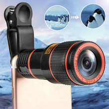 HD 12x Optical Zoom Telephoto Camera Lens External elescope With Universal Clip For iPhone Smart Phone Dropshipping