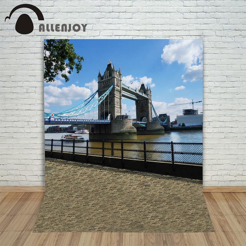6.5ftx10ft AllenjoyHome Photo Background London Bridge Riverside wedding Photography backdrops Studio For baby Interior Photos футболка ftx 2183 ulzzang