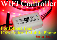 WIFI RGB LED Controller for Iphone,Ipad,IOS/Android Mobile Phone Wireless RF Dim CE DC12V 24V for 3528 5050 LED Strip light