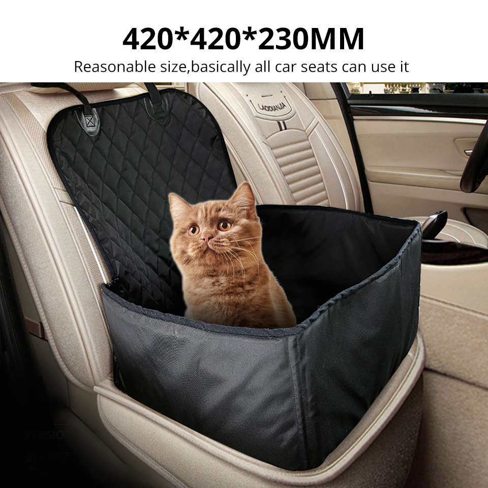 Interior Accessories New Waterproof Travel Carrier For Front Seat Dogs Folding Thick Pet Cat Dog Car Booster Seat Cover Outdoor Pet Bag Hammock