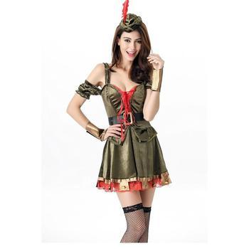7ce0b835af Sexy nueva mujer Robin Hood alta calidad Halloween carnaval disfraz adulto  chica papel mujer Cosplay