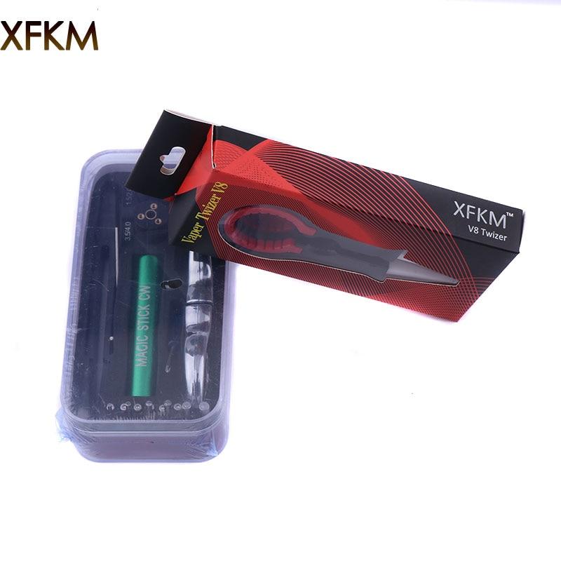 XFKM New Magic Stick CW Kit Formato 6 in 1 Bobina di Avvolgimento Jig Avvolgitore Filo di Riscaldamento Stoppino Strumento Per Il FAI DA TE RDA RBA Atomizzatore mod