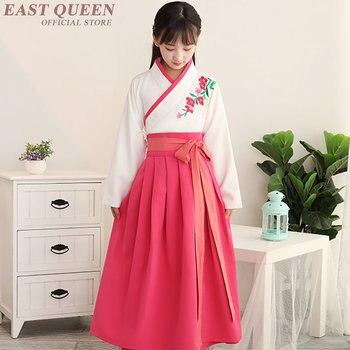 Hanbok coreano para niñas nuevo diseño tradicional disfraz antiguo hanbok para cosplay mangas largas bordado AA3779 Y a