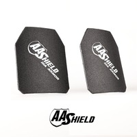 AA Shield Bullet Proof Ultra Light Weight Hard Plate Body Armor Inserts Safety Shooter Cut NIJ