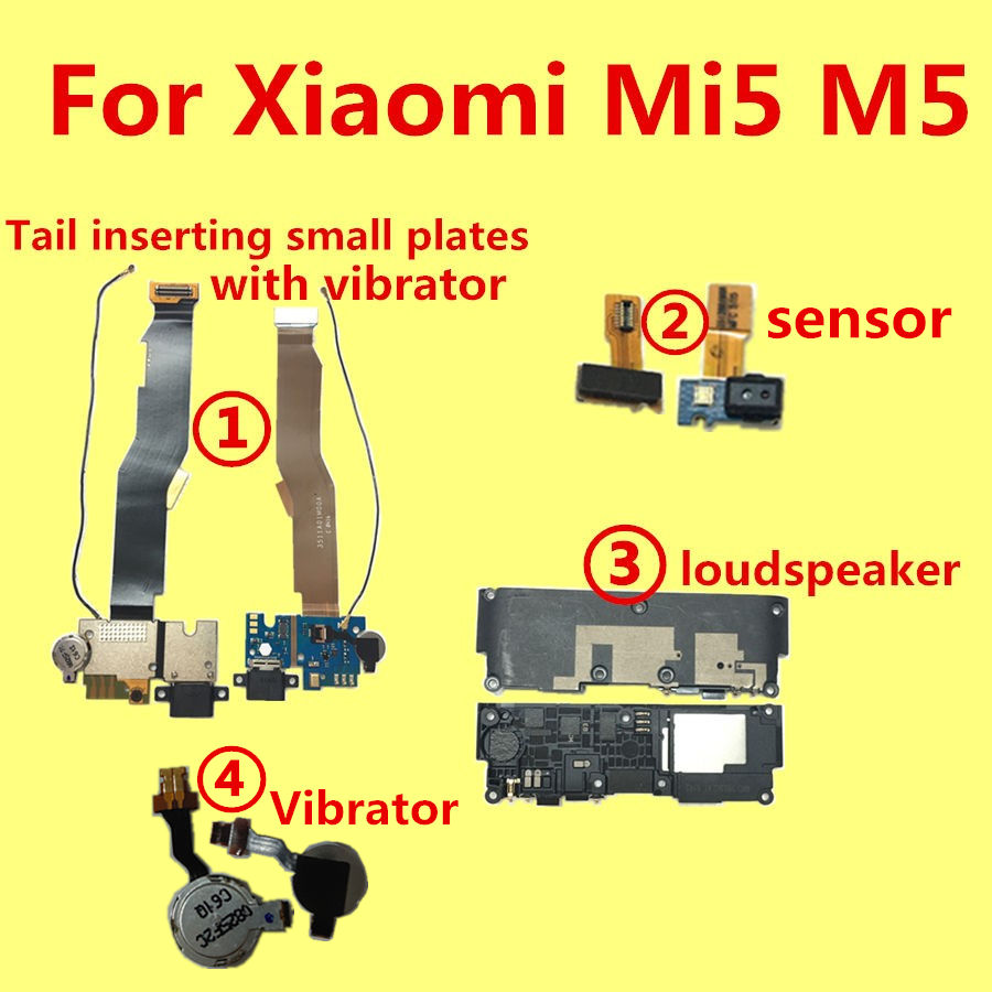 For Xiaomi Mi5 M5 speaker or loudspeaker or Vibrator or Tail inserting small plates
