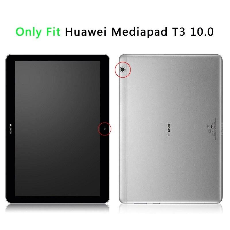 """Image 4 - Huawei mediapad t3 10을위한 mingshore 케이스 huawei t3 10 AGS L09 AGS W09 9.6 """"케이스를위한 튼튼한 실리콘 아이 shockproof 정제 덮개테블릿 & 전자책 케이스컴퓨터 및 사무용품 -"""