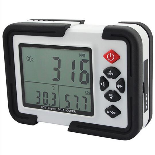Portable Digital CO2 Meter CO2 Monitor Detector HT 2000 Gas Analyzer 9999ppm CO2 Analyzers Temperature Relative