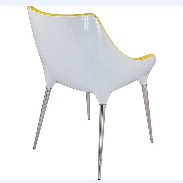 Free Shipping Coffee shop Armchair Yellow PU Leather