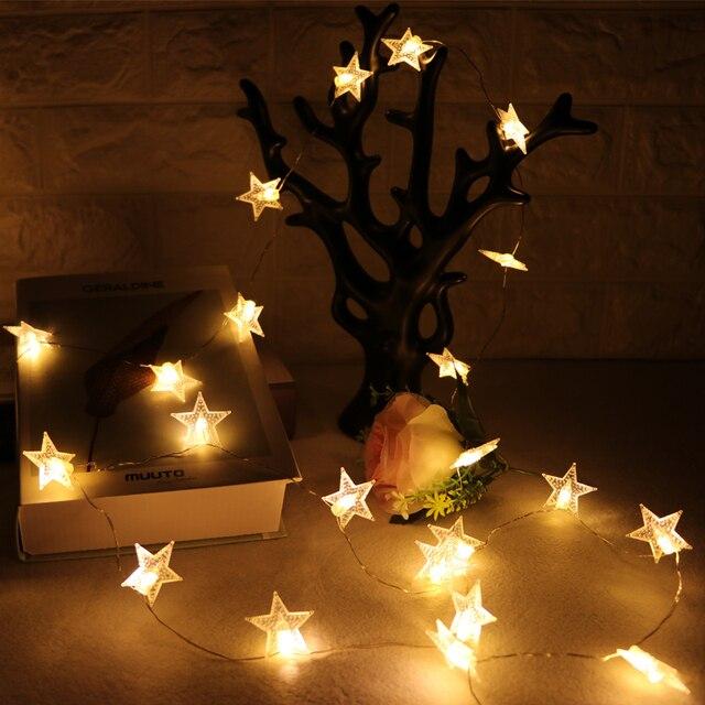 10m 80led star string lights shaped theme led string fairy light christmas tree decor holiday wedding