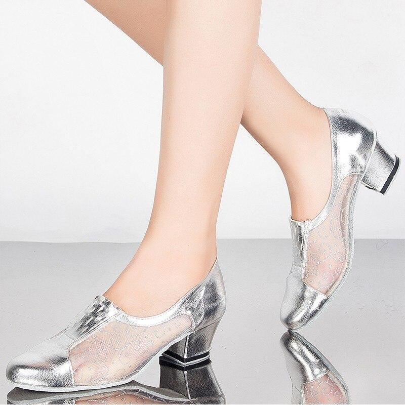 Offre spéciale chaussures De danse latine femmes filles sans lacet Salsa salle De bal chaussures modernes Zapatos De Baile Latino pour femme