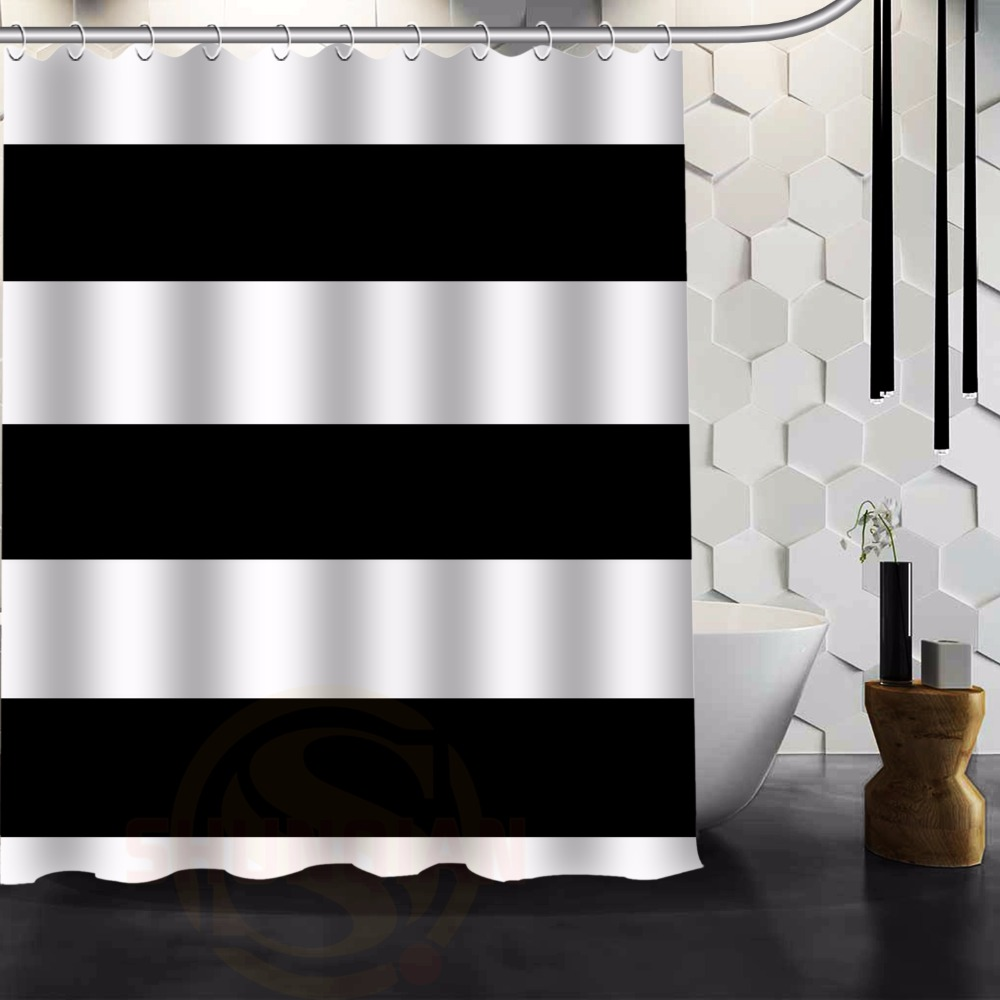 Online Get Cheap Striped Curtains Horizontal Aliexpresscom - Brown and white striped shower curtain