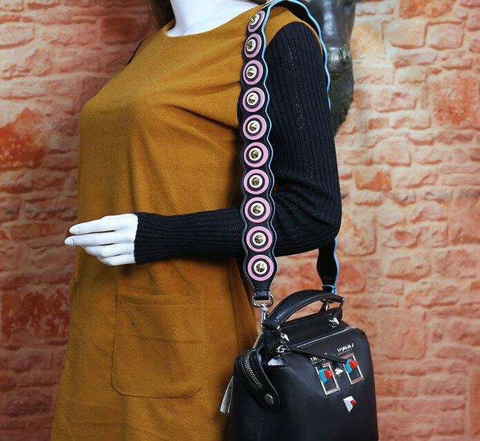 2018 Strap You Genuine Leather Shoulder Bag Strap With Rivet Designer Women Bag Accessory Bag Strap Ladies Long Strap 95*5cm