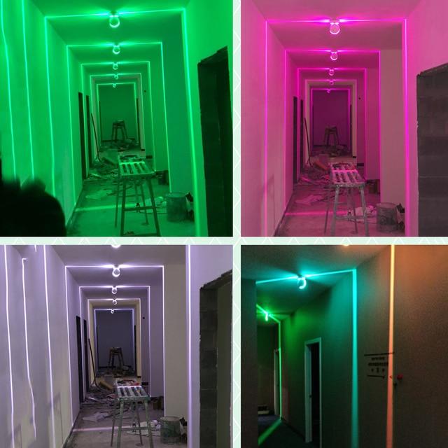 Thrisdar 10W Line Ray lampa okienna rama drzwi ze zdalnym hotelem KTV nawa restauracyjna LED reflektory ścienne korytarz światło werandy