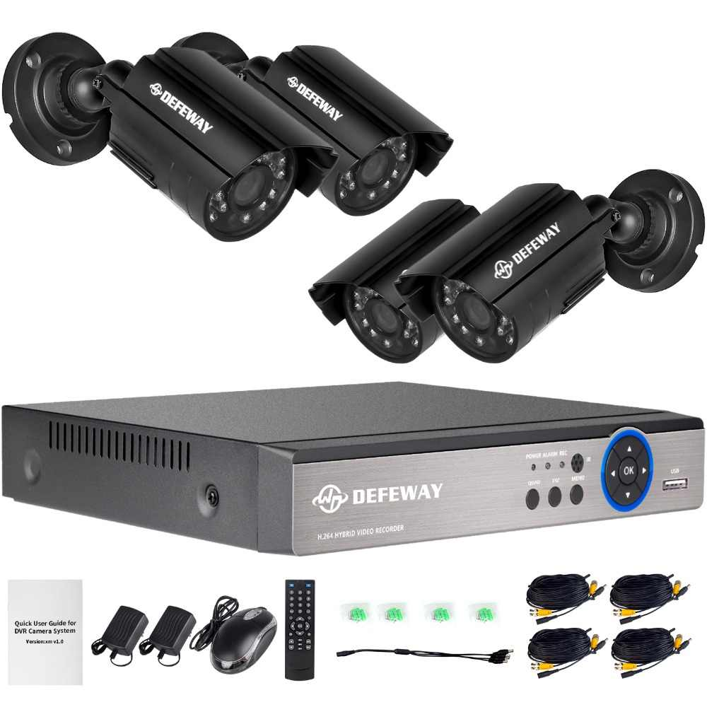 DEFEWAY 8CH 1080N HDMI DVR 1200TVL 720 P HD Outdoor Beveiliging Camera Systeem 8 Kanaals CCTV Surveillance DVR Kit AHD Camera Set