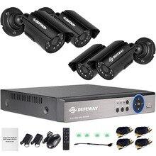 DEFEWAY 8CH 1080N HDMI DVR 1200TVL 720P HD Открытый безопасности камера системы 8 каналов видеонаблюдения DVR комплект AHD камера комплект