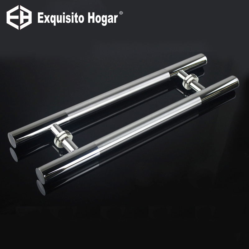 Stainless Steel 304 Pull Push Door Handle For Wood Glass Entry Front Door Exterior Interior Cabinet Furniture Handle