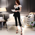 Original 2016 Brand Combinaison Femme England Style High Quality Plus Size Slim Elegant Office Jumpsuits Women Black Wholesale