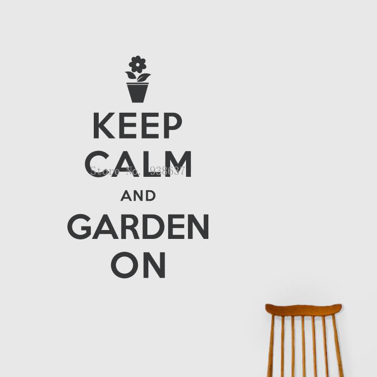 Waterproof Vinyl Wall Decals Quote Keep Calm and Garden On Living Room Bedroom Decoration Art Stickers For Office Decor ZA842