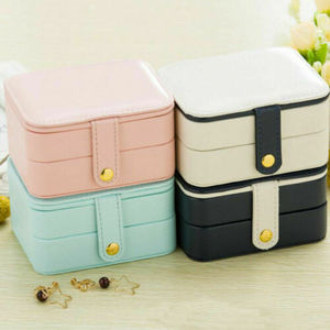 Image 4 - New Arrival Portable Jewellery Box Women Lady Travel Packaging Storage Box Organizer Makeup Case Hot Jewellery Display Box