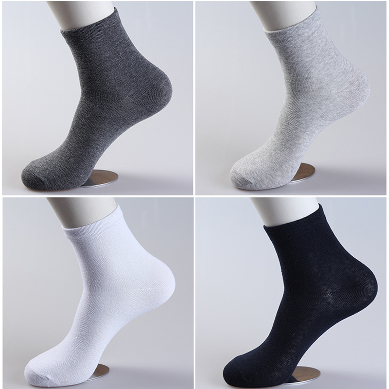3 Pairs Fashion Casual Men Socks Short High Quality Cotton Mens Socks Men Brand Business Breathable Summer Solid Short Socks