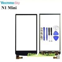 Vecmnoday用oppo n1ミニ黒タッチスクリーンデジタイザ交換オリジナルタッチパネル完璧な修理部品