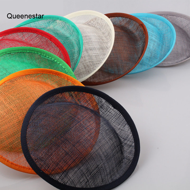 Wholesale 20CM Pure Sinamay Hat Base DIY Women Headwear Sinamay Fascinator Hair Clip Bands DIY Party Hat Hair Accessories