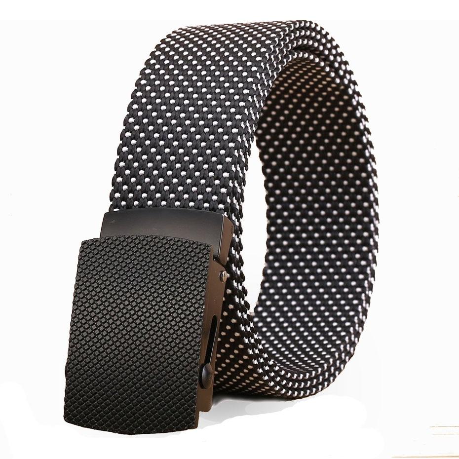 De cinturones de lujo para los hombres de cinturones ejército tácticas diseño hombres cinturón de nylon de Moda hombre Correa ceinture homme B120