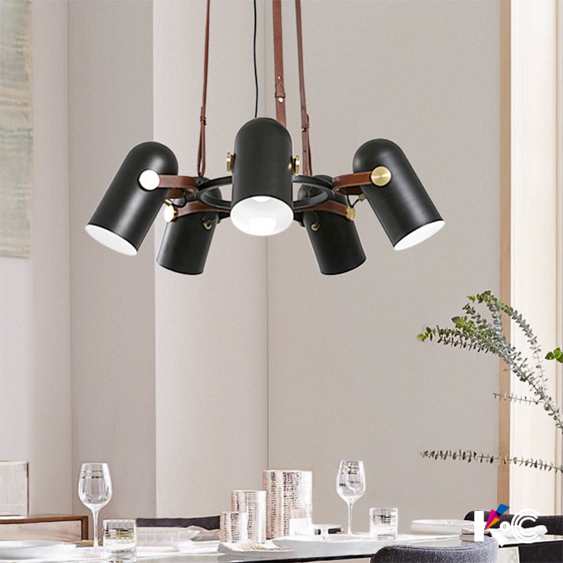 Personality Vintage Black Industrial Pendant Light Metal Leather Adjustable Angle Retro Hanging Light Lamp For Restaurant Loft edison loft style vintage light industrial retro pendant lamp light e27 iron restaurant bar counter hanging chandeliers lamp