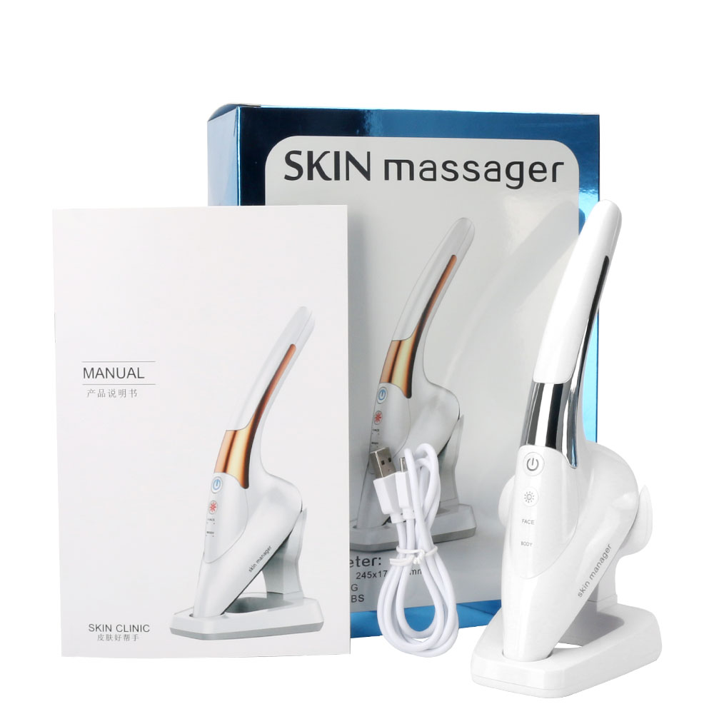 Microcurrent Iron Heat Ion Face Lift Machine Skin Tightening Rejuvenation Vibrate Facial Wrinkle Remover Device Beauty