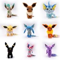 9 pcs/sets Standing Eevee Umbreon Flareon Vaporeon Glaceon Jolteon Espeon Leafeon Sylveon Animal Stuffed Plush Cartoon Toy