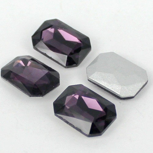Amethyst Rectangle Shape Crystal Fancy Stone Point Back Glass Stone For DIY Jewelry Accessory.10*14mm 13*18mm 18*25mm 20*30mm