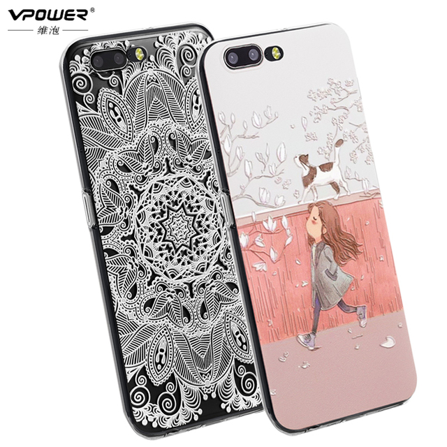 Oneplus 5 case silicone cover A5000 Coque Vpower 3D Stereo Relief Feeling Back Cover Case One plus 5 Case coque fundas