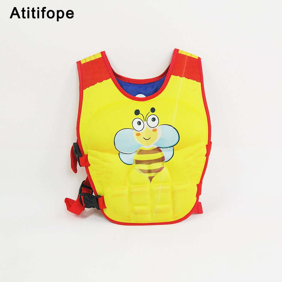 Good Little Bee Pattern Safe Big Buoyancy Bright Colors Child Swimming Arm Circle Learning Swim Vest Swimming Pool Accessories 2019 Official Functional Bags