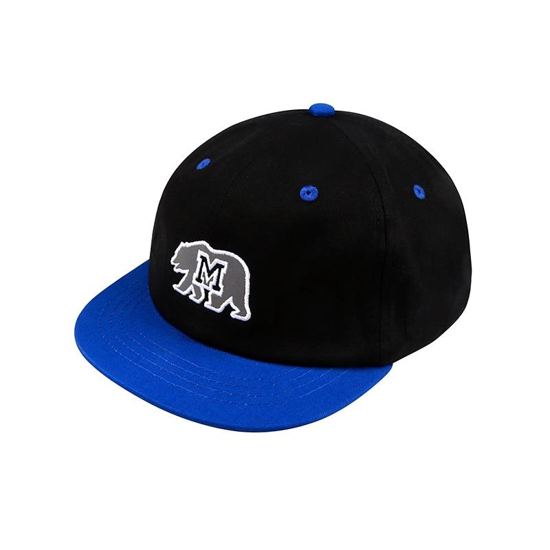 2018 New Unisex Reflective California Bear Logo Baseball Caps Snapback Gay Caps Japanese Letters Bear Hat