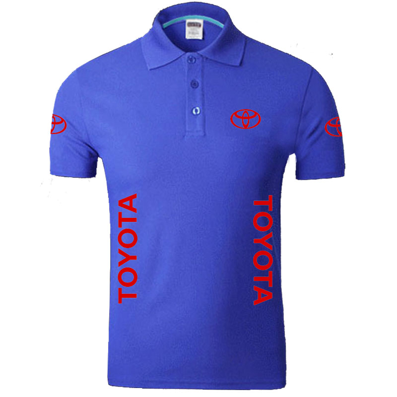 Summer TOYOTA logo Men   Polo   Shirt Brand Clothing Cotton Casual   Polo   Shirt Short Sleeve   Polo   Shirt