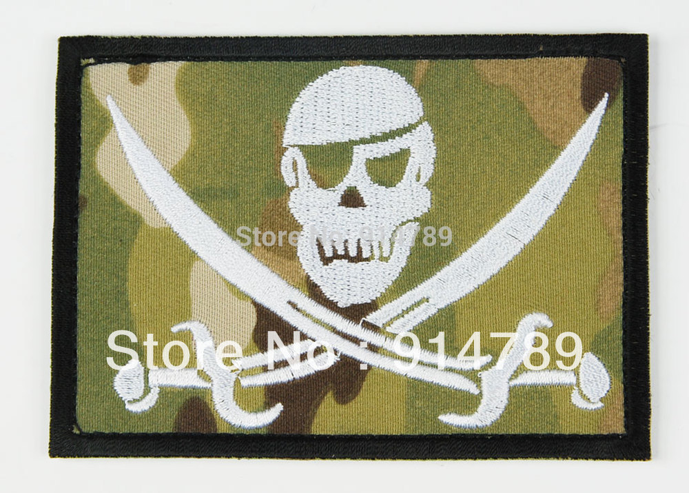 US NAVY SEALS SPECIAL WARFARE SKULL ARMBAND  PATCH MULTI CAMO-32769