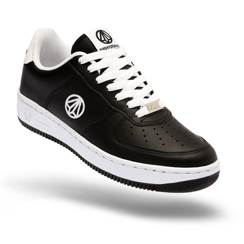 Paperplanes 1337 - Black White Walking Training Lace Up Shoes Trainers Sneakers