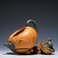 2018 New product authentic Yixing teapot all handmade famous frog lotus seeds clay teapot 420ml