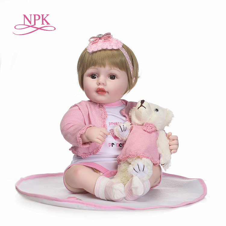 NPK 22 inch Silicone Reborn Babies Dolls Brinquedos Dolls For Girls Vinyl Realistic Doll Reborn Kids Christmas Gifts Toys