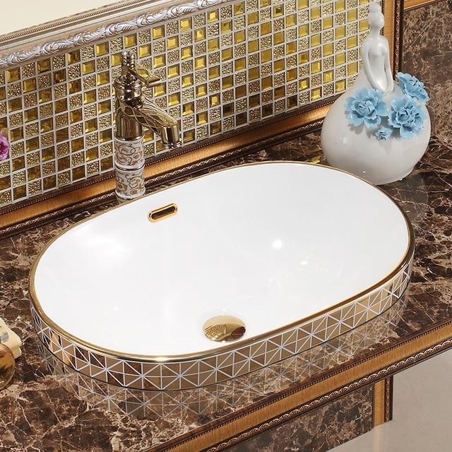 Ceramic sanitary ware table washing basin